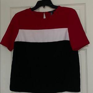 Color block shirt/ blouse